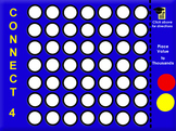 Place Value Game to Thousands- Connect 4