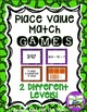 3 Digit Place Value:  GAMES BUNDLE!