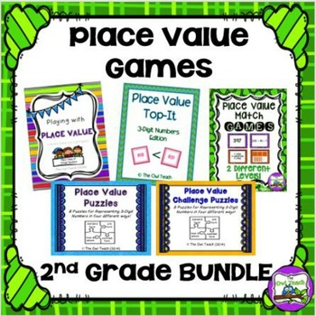 3 Digit Place Value:  GAMES BUNDLE!