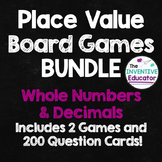 Place Value Games: Whole Numbers and Decimals BUNDLE