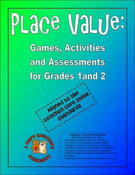 Place Value:  Games, Activities, and Assessments for Grades 1 and 2