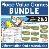 Place Value Games BUNDLE- 2 Easy Prep Games