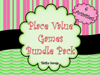 Place Value Games Bundle Pack- 6 Awesome Games, 100 pages!