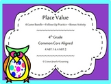 Place Value Games- Bundled Value Pack 4.NBT.1 & 4.NBT.2 UPDATED