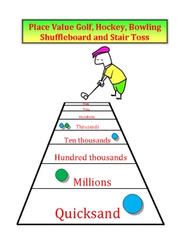 Place Value Games - Golf, Hockey, Bowling, Shuffleboard & Stair Toss