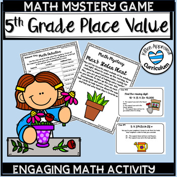 Place Value Games Grade 5 Math Mystery Games 5th Grade