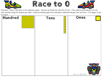 Place Value Games - Off to the Races!