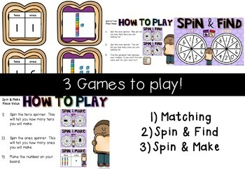Place Value Games - Tens and Ones