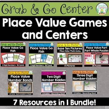 Place Value Games and Centers Bundle
