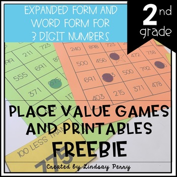 Place Value Games and Printables FREEBIE