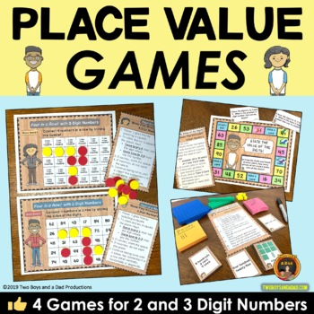 Place Value Games for 2 & 3 Digit Numbers