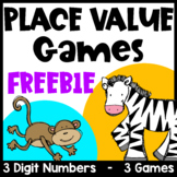 Hundreds, Tens and Ones Place Value Free: Place Value Games for 3 Digit Numbers
