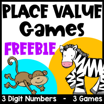 Free Place Value Games for 3 Digit Numbers with Hundreds, Tens and Ones