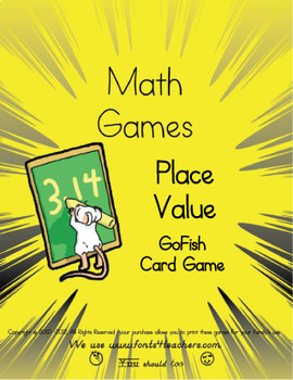 Place Value- Go Fish Card Game