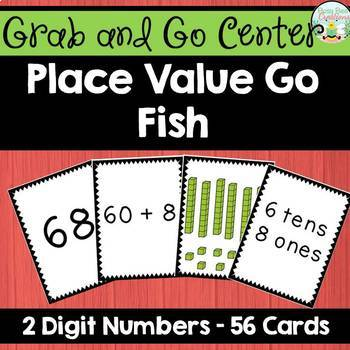 Place Value Go Fish Game - 2 digit