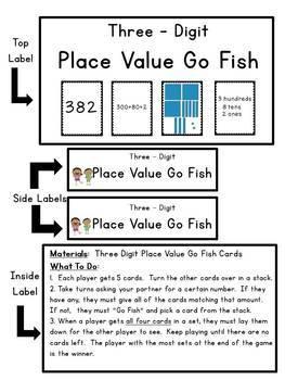 Place Value Go Fish Game - 3 digit
