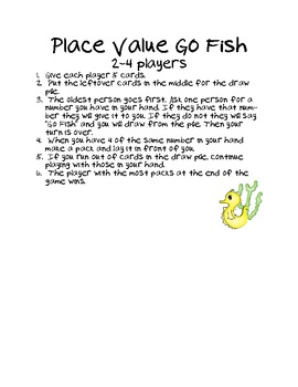 Place Value Go Fish - Level 1