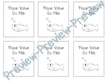 Place Value Go Fish - Math Center 1.NBT.2