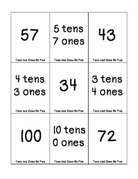 Place Value Go Fish/Memory