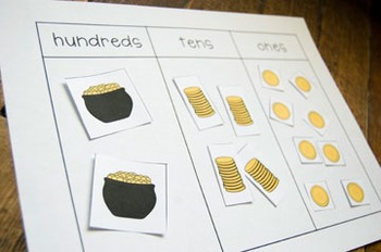 Place Value Gold: A St. Patrick's Day FREEBIE!