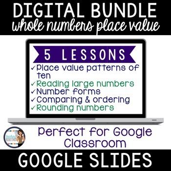 Place Value Google Interactive Lesson Pack {BUNDLE}