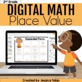 Place Value Google Slides- 2nd Grade Math Place Value digital with Google Slides