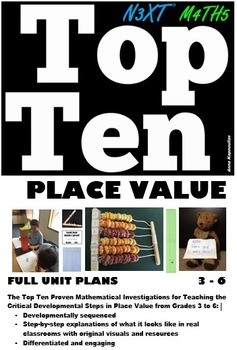 Place Value Grade 3 4 5 & 6 Full Unit Plan Lesson Bundle A