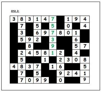 Number Word Grid Puzzle