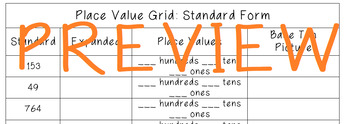 Place Value Grids