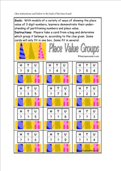 Place Value Groups Game