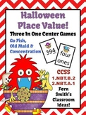 Halloween Place Value Math Center Games Concentration, Go Fish and Old Maid