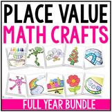 Place Value Fall Craftivities Bundle