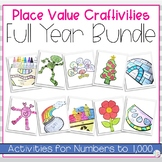 Place Value Math Craftivity Bundle | Including Christmas Activity
