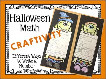 Place Value Halloween Craftivity