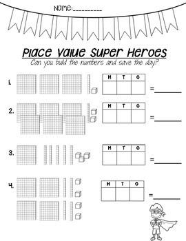Place Value Heroes- Worksheets