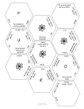 Place Value Hexagon Match