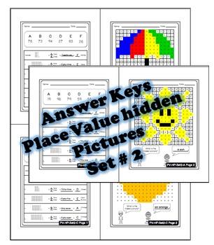 Place Value Hidden Picture Activity, Place Value Coloring Sheets