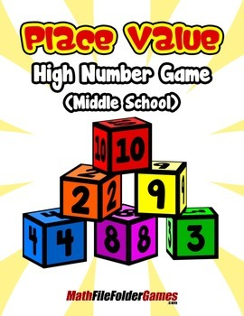 Place Value High Number Game (Middle School) {Place Value Game}