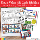 Math Activities Place Value QR Code Riddles | Holiday Themed