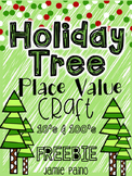 Place Value Holiday Tree (Tens & Hundreds) Craft - FREEBIE