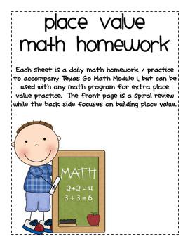 Place Value Homework Pracitce