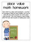 Place Value Homework Pracitce