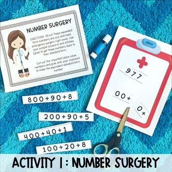 Place Value Hospital: Hands-On Review Activities for Place Value