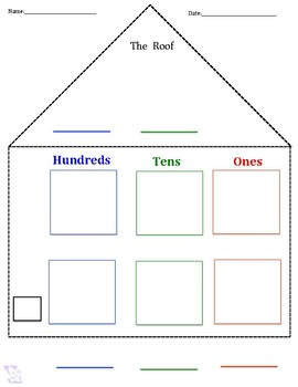 Place Value House Chart *Bilingual-Spanish & English