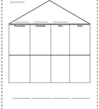 Place Value House Template by Brittany Leopold and LaKesha Durant