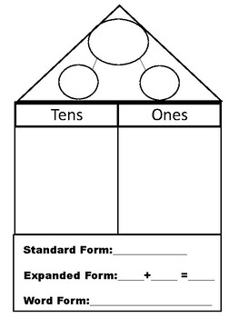 Place Value House with Number Bond