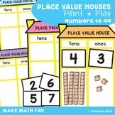 place value house worksheets teaching resources tpt. Black Bedroom Furniture Sets. Home Design Ideas