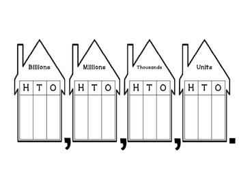place value houses by texas math coach teachers pay teachers. Black Bedroom Furniture Sets. Home Design Ideas
