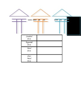Place Value Houses and Notetaker