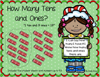 Place Value ~ How many tens and ones? ~ Christmas Themed